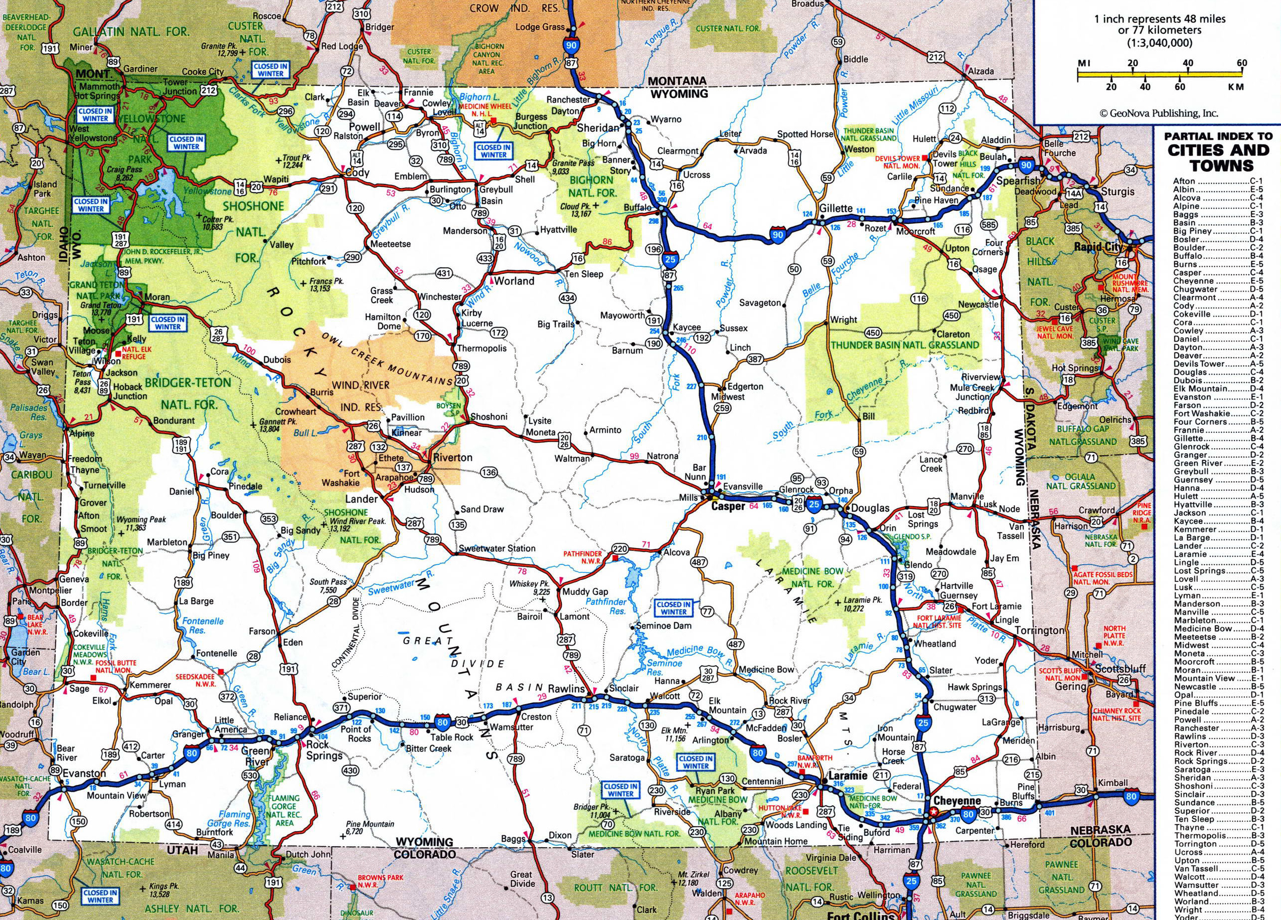 Show Me A Map Of Wyoming Wyoming | Mountain Weather
